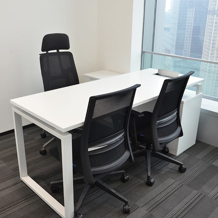 Manufacturer customized office desk  open modular office 4 person workstation staff desks high quality  two sided table top