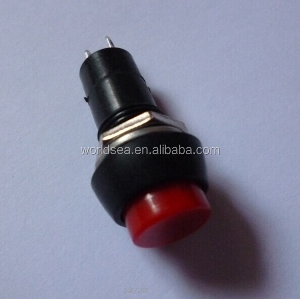500 Pcs Red Round Cap Momentary 2 pin Push Button <strong>Switch</strong> without wire end