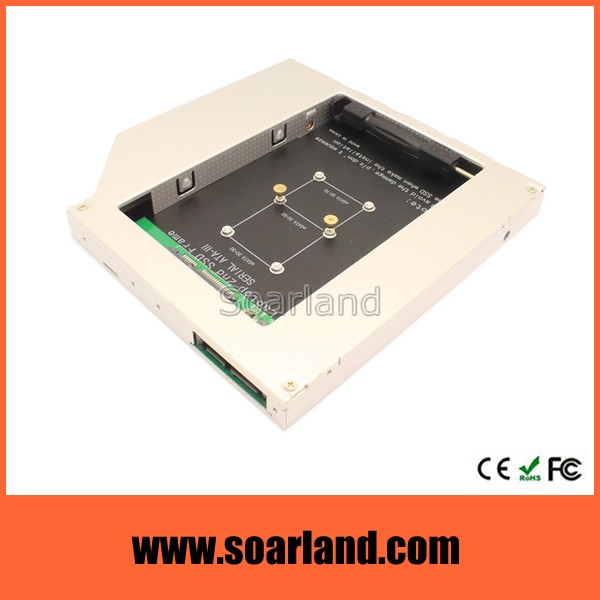 Advanced msata ssd to slim sata adapter caddy