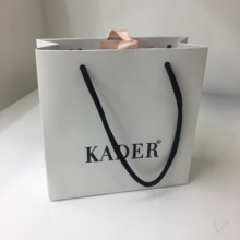 Custom design 쇼핑 drawstring 옷 tote paper bag with your own logo