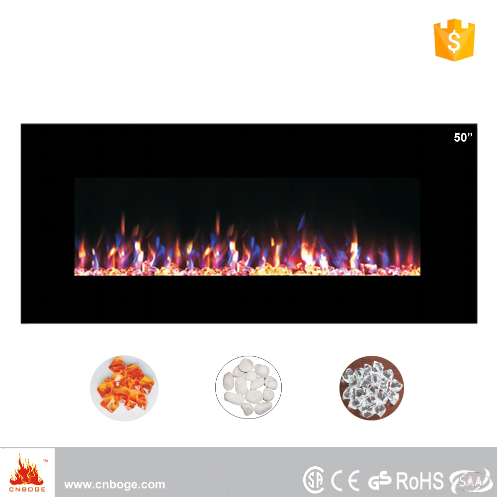 Decorative wall mount led electric fireplace heater