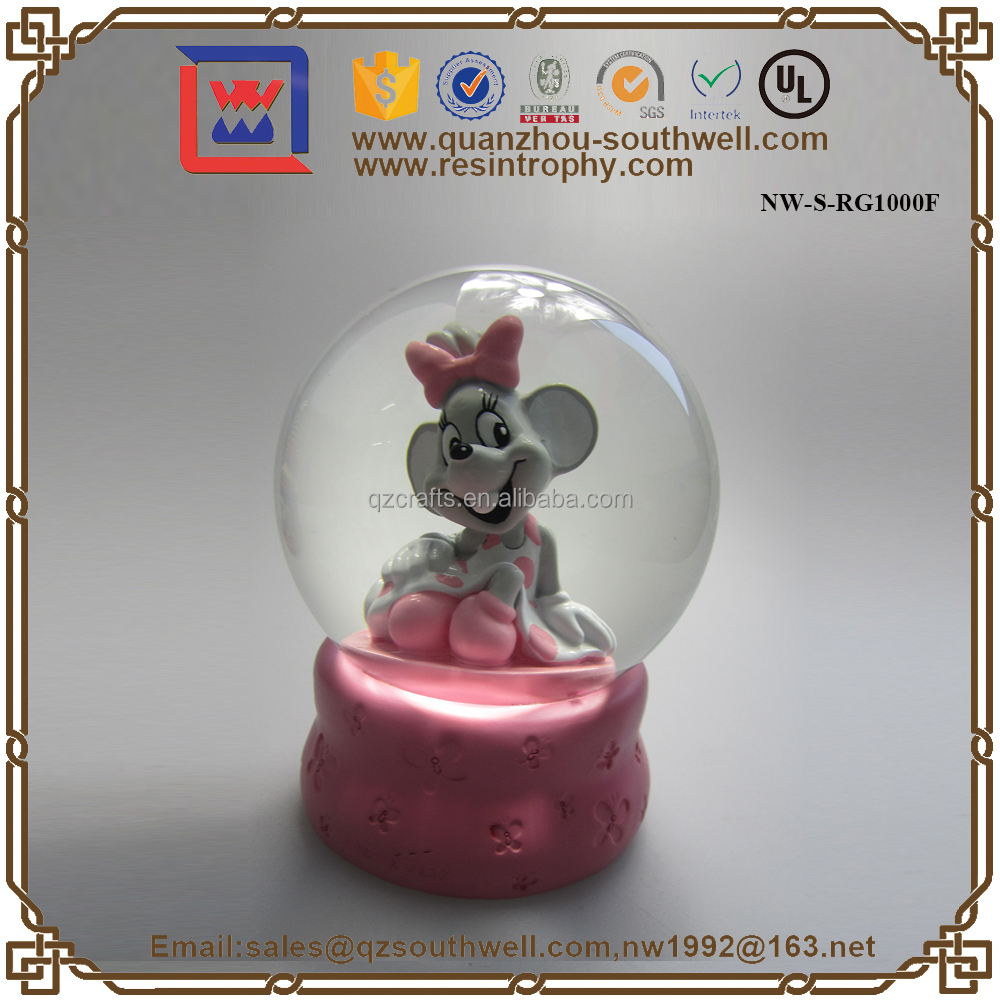 OEM Snow Globe, Resin Snow Globe Cute Animal Snow Globe