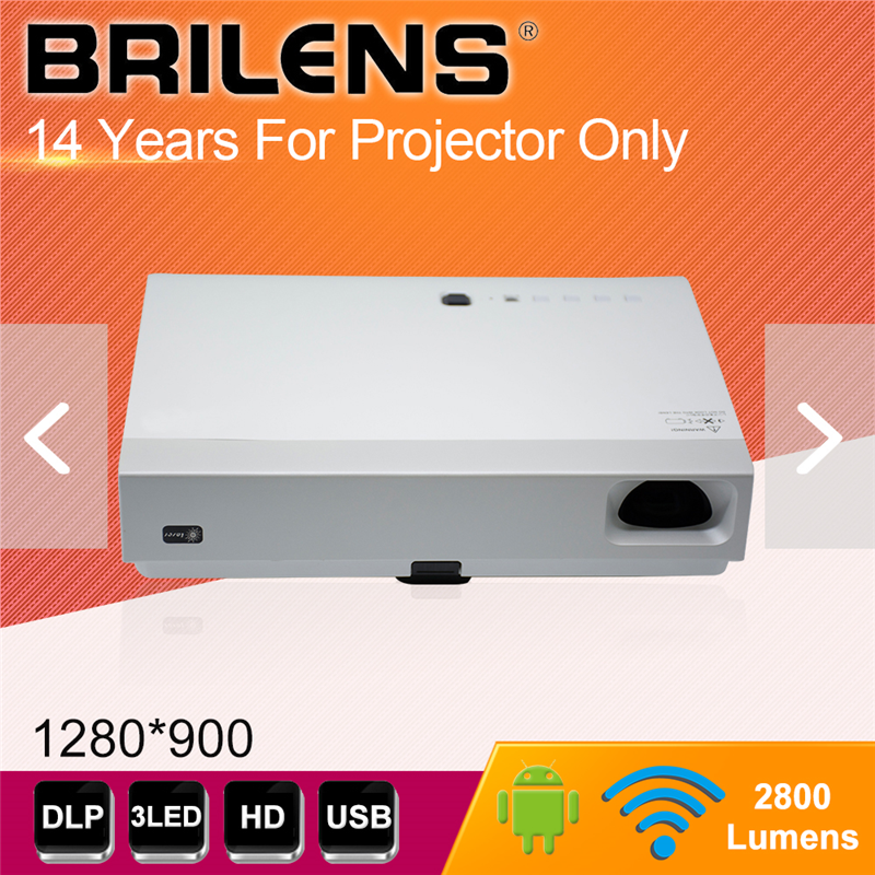 Brilens LS1280 Vicky 1280X800 50 000:1 DLP затвора 3D proyector видео