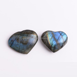 Rough Stone Raw healing crystal labradorite Rock heart