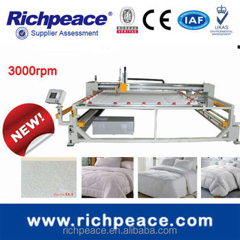 Richpeace 1:1 design,Frame size=Machine Size, space saving! fast speed 2500rpm with Thread Trimmer Single Head Quilting Machine