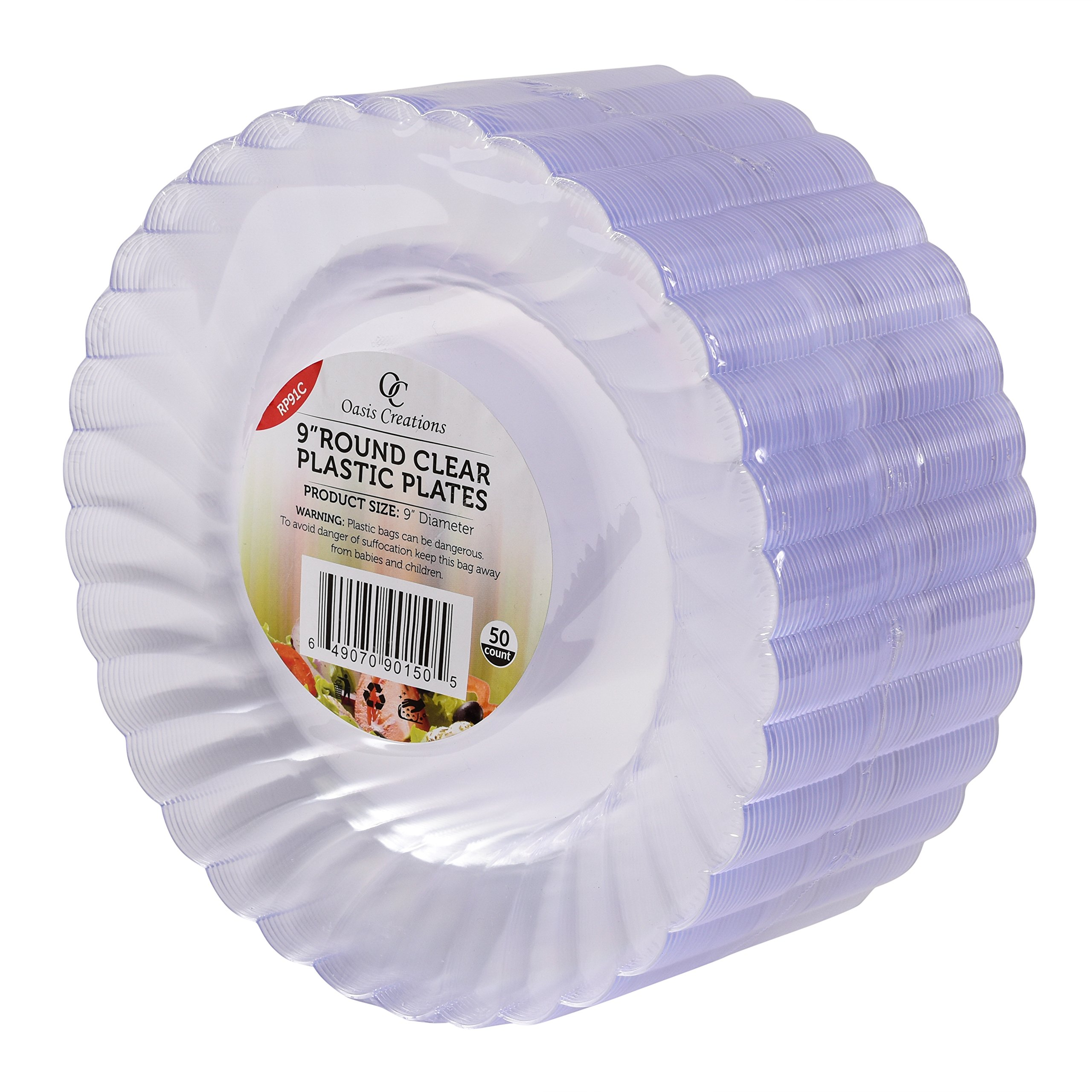 Get Quotations · 50 Premium Hard Clear Plastic Plates Set By Oasis Creations - 9  Round Disposable Plates  sc 1 st  Alibaba & Cheap Hard Plastic Plates find Hard Plastic Plates deals on line at ...