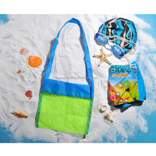 Adorable Blue Small Size Mesh Sea Shell Collecting Bag