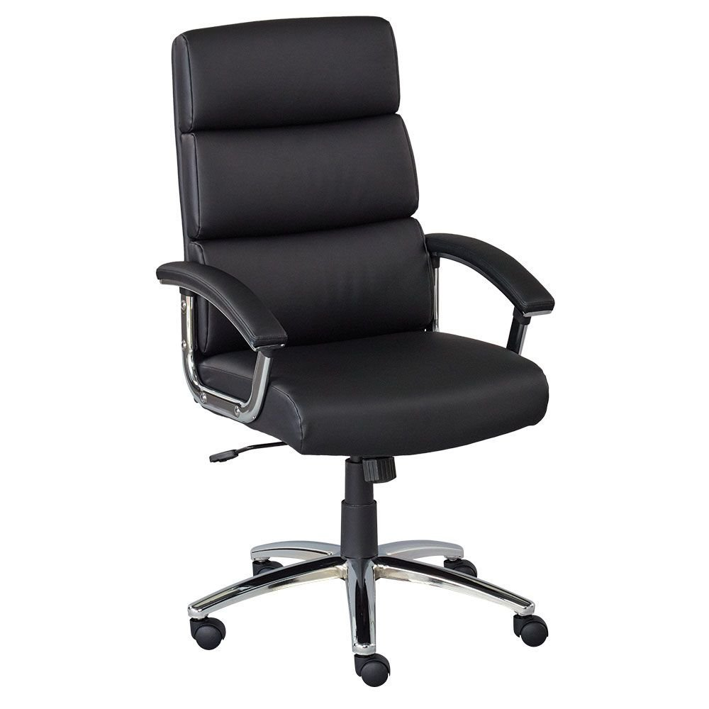 "Conference Chair in Faux Leather Dimensions: 25.75""W x 28.75""D x 41.75-45.625""H Seat Dimensions: 20""Wx18.5""Dx19-23""H Weight: 45 lbs. Black Culp Dillon Polyurethane/Chrome Steel Base"