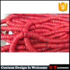High quality flat big hole size red coral beads, abacus shape loos coral beads for pendants