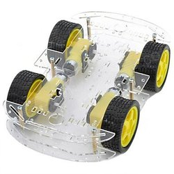 Hot sale DIY 4wd Smart Robot Car Chassis Kit with long chassis