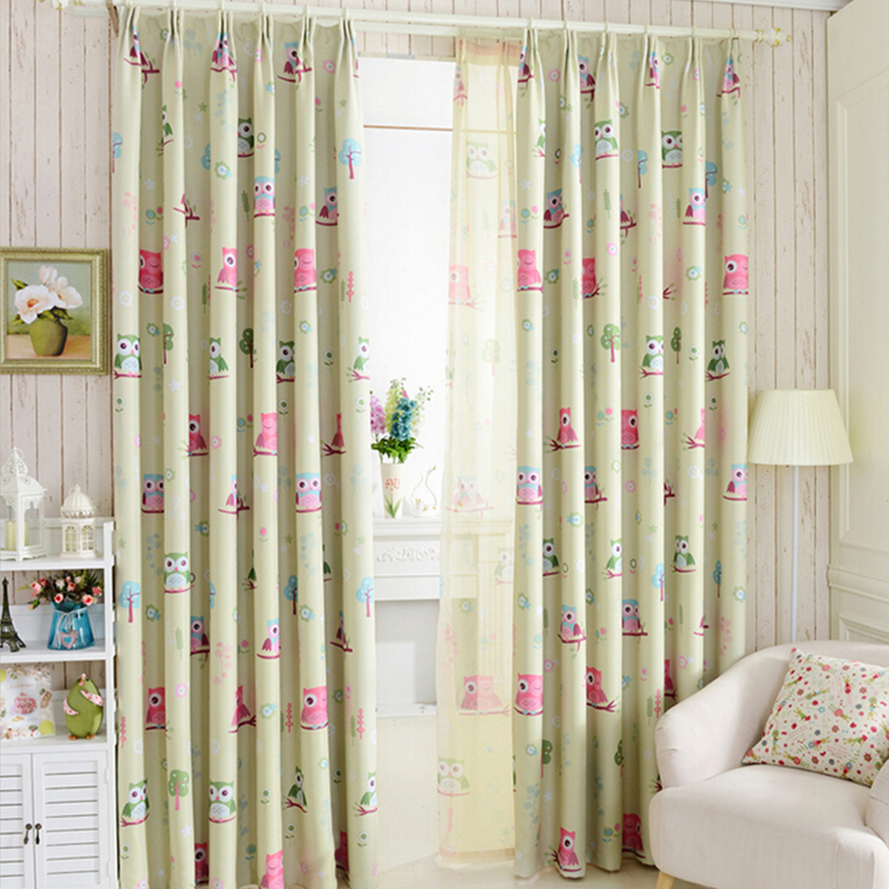 2015 cartoon owl shade blinds finished window blackout - Childrens bedroom blackout curtains ...