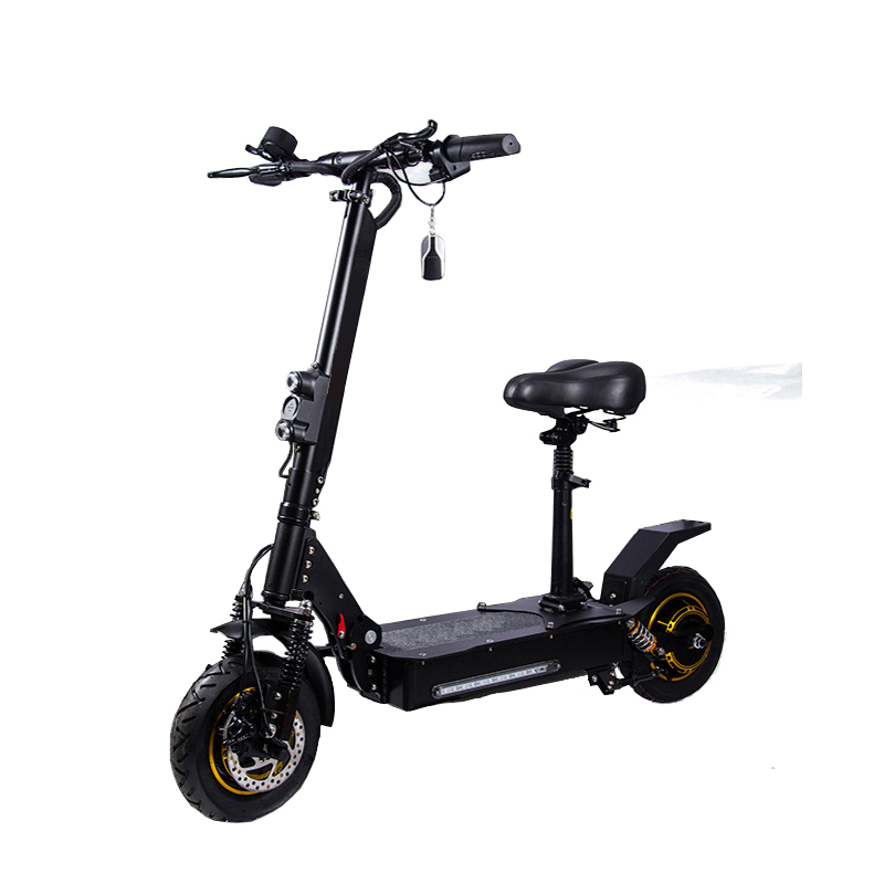 Wholesale the best 2000W powerful fastest 10 inch fat tire electric scooter with removable seat