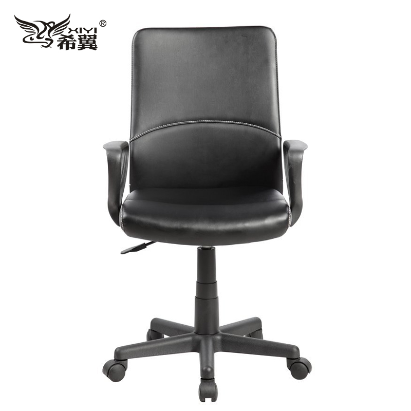 Hot sell modern design Ergonomic Mid Back Leather Computer studio office swivel chair anji