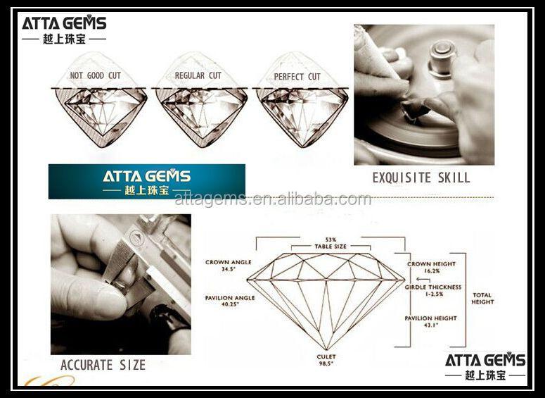 China made heart shape zirconia cz stone