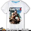 Cotton short sleeve big kids t shirts cute cartoon game boy gir big boy wear far