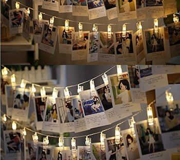 20 Leds Wall Decoration Christmas Lights Photo Clips String For Home Decor Hanging