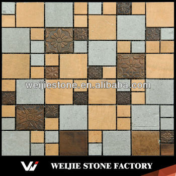 Cheapest Exterior Wall Cladding Material Stainless Steel Mixed Stone Mosaic Buy Cheapest