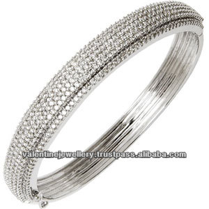 bracelet gold jewelry ctw img fine diamond white pave bangle stg bracelets item