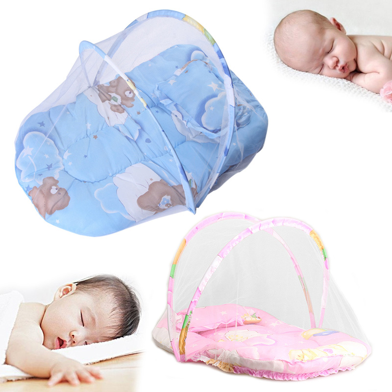 Baby Mosquito Insect Cradle Bed Netting Canopy Cushion Mattress for Infant LD789
