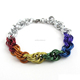 Wholesale Stainless Steel Lgbt Rainbow Bracelet, Gay Pride Chainmail Jewelry
