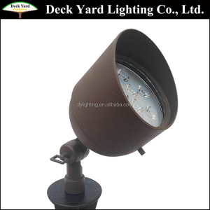 RGB 9 Watt LED Landscape Spot Light 12V High Power LED Flood Light Fixture Brass Outdoor LED Landscape Up Light