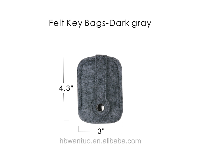 key chain felt Item and polyester Material felt key chain
