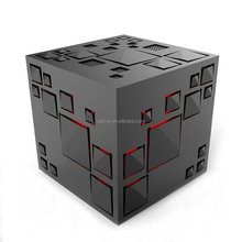 Mini Wireless Portable Cube Blue tooth Speaker with LED Light Color Changing Nightlight Hi-Fi Small Subwoofer Music Player