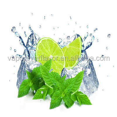 Lime mint flavor concentrate in sweeteners for e cig liquid