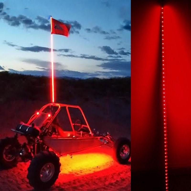 1 5m 1 8m Car Led Safety Antenna Flag Pole Lights For Atv