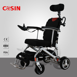 Handicapped folding electric wheelchair small wheels electric wheelchair