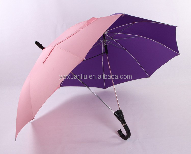 Customizable straight double top and double umbrella for lovers,double layer umbrella