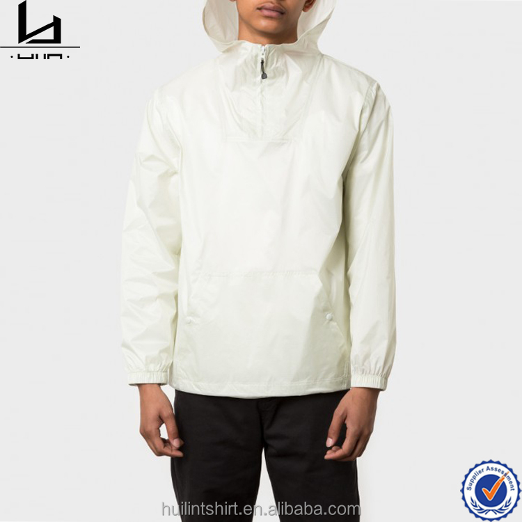 Bulk clothing for sale nylon light weight pullover jacket