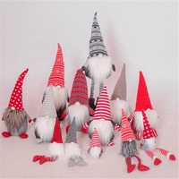 China supplier wholesale christmas ornaments christmas gift sewing hat felt knitted standing gnomes