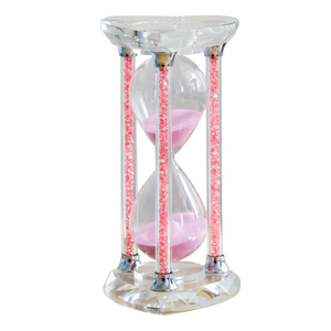 Wholesale exquisite high quality personalized memento gifts crystal custom hourglass mini gifts for children