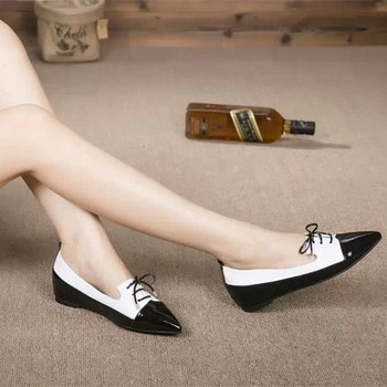 ad3d7162d 2017 latest ladies sheepskin patent leather pointed toe women cheap flat  shoes for sale