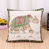 Cheaper Beautiful Elephant Pattern Yarn-dyed Fabric Pillow Cases