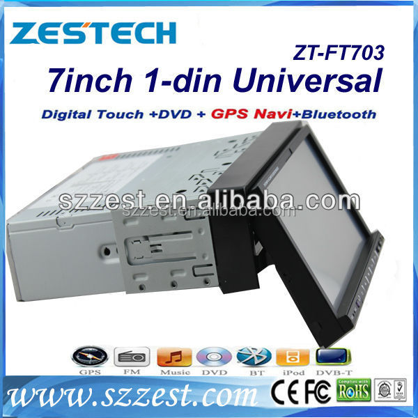 ZESTECH Universal auto radio gps 1 din 7 inch android car dvd player with radio audio navigation system bluetooth