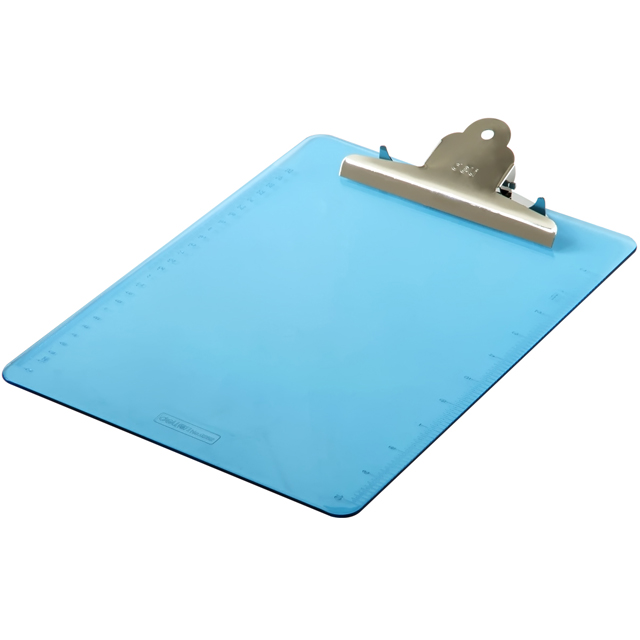 Custom Logo A4 Transparent Color Plastic Clip Board