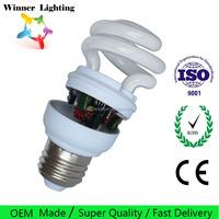 Mini CFL Lamp T2 T3 Half Spiral E27 Bulbs Energy Saving Light warm white daylight 9w 15w 18w 20w Bulb