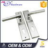 Modern style SUS304 door lever handle on plate , lever type door handle for aluminum door