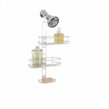 Adjustable Shelf Bathroom Organiser Corner Shower Metal Bronze ...