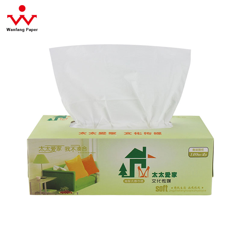 China Manufacturer Promotional Box Facial Tissue Paper