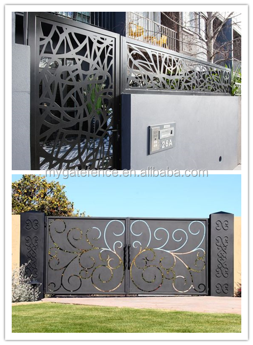 From Usa Popular Simple Automatic Sliding Laser Cut Sliding Gates