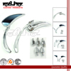 BJ-RM-040 universal adjustable aluminum chrome motorcycle mirror