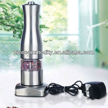 Rechargeable Stainless Steel Electric Pepper Mill With