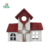 Home and garden decorative wood church shape bird house
