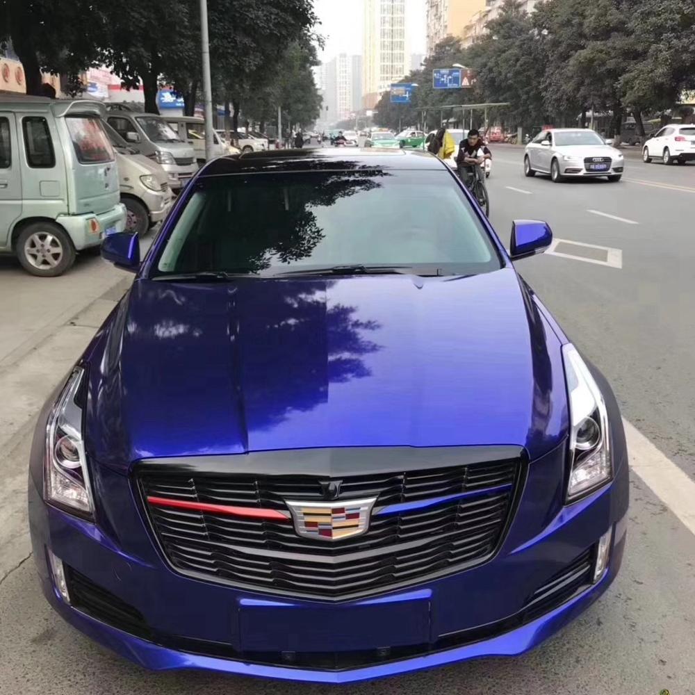 סיטונאי עצמי דבק Calendared עמוק כחול צבע מבריק מתכתי רכב סרט ויניל גלישת מדבקה