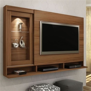 New modern wooden tv cabinet designs wardrobe with wall mounted tv cabinet