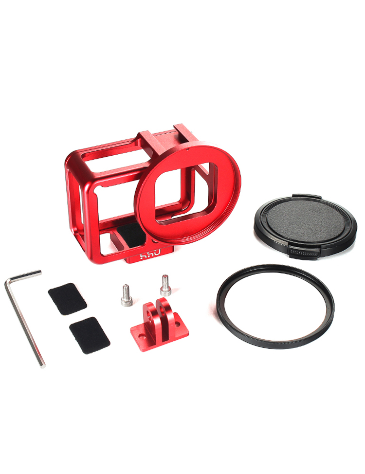 52mm Lente Filtro UV CARCASA Protectora para Gopro Hero 7 Shell Funda Adaptador