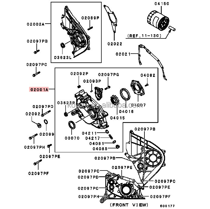 oil pump cylinder block case for mitsubishi pickup triton